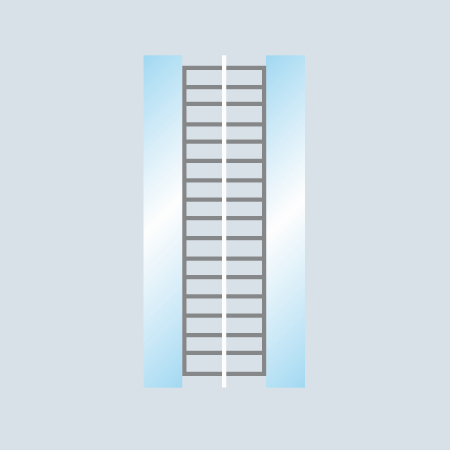 2 Scheiben Aufbau U2013 Vertikale Verglasung
